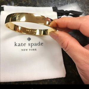 "New Kate Spade ""As Good As"" Idiom Gold Bracelet"